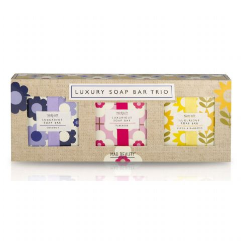 Coconut, Tuberose & Lemon Mandarin - Floral Luxury Soap Bar Trio Gift Set of 3